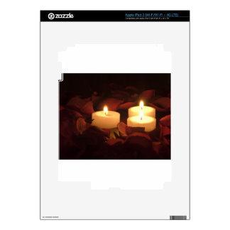 Velas en rosas iPad 3 pegatinas skins