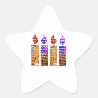 Velas: Festival de luces Pegatina En Forma De Estrella