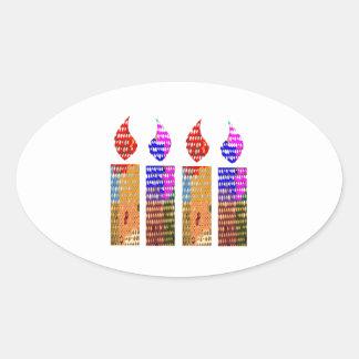 Velas: Festival de luces Pegatina Ovalada