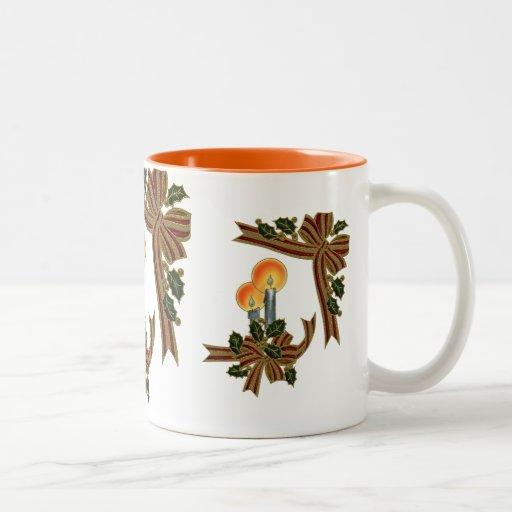 Velas festivas de taza de café