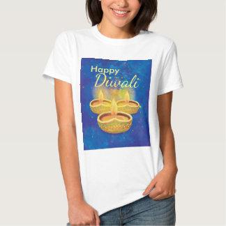 Velas illuminating pintadas a mano felices de camisas