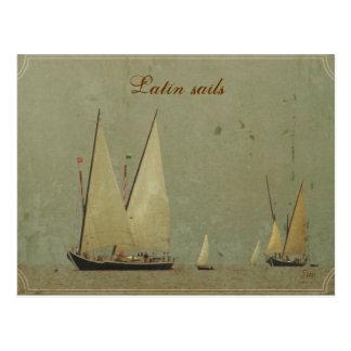 Velas latinas tarjetas postales