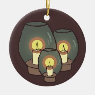 Velas, ornamento adorno redondo de cerámica