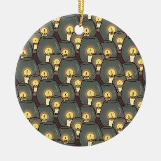 Velas, ornamento modelado adorno redondo de cerámica