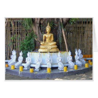 Velas para Buda Tarjeta De Felicitación