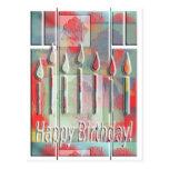 Velas para el cumpleaños tarjeta postal