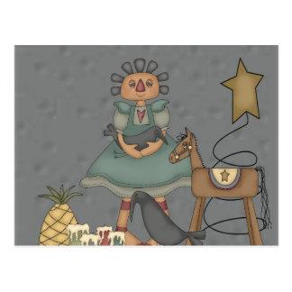 Velas primitivas de la estrella de la lata del postal