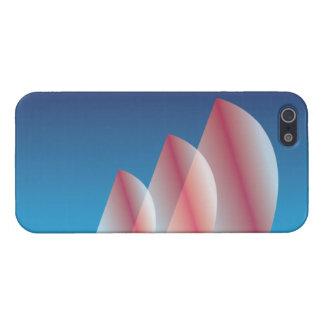 Velas translúcidas del escarlata del cielo azul de iPhone 5 fundas