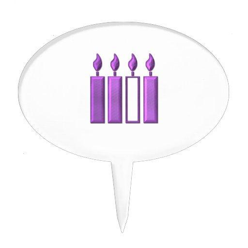 """velas """"tridimensionales"""" de la guirnalda del adven figura para tarta"""
