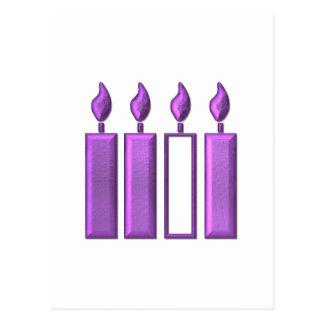 """velas """"tridimensionales"""" de la guirnalda del postal"""