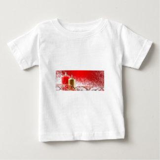 Velas y cinta del navidad tee shirt