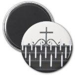 Velas y cruz piadosas cristianas imanes para frigoríficos
