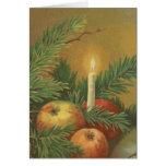 Velas y decoración del navidad felicitaciones