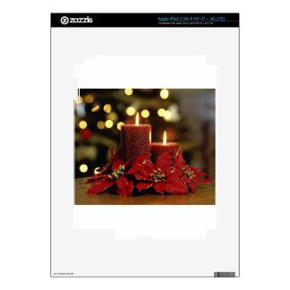 Velas y flores del navidad pegatina skin para iPad 3