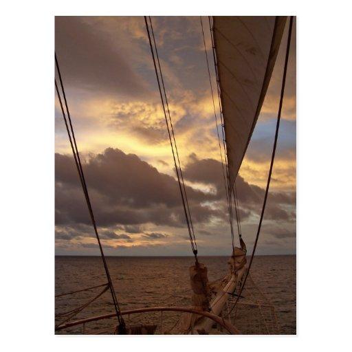 Velas y postal de la foto del cielo