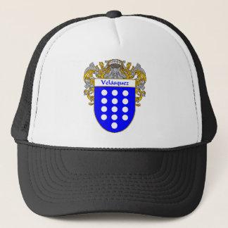 Velasquez Coat of Arms/Family Crest Trucker Hat
