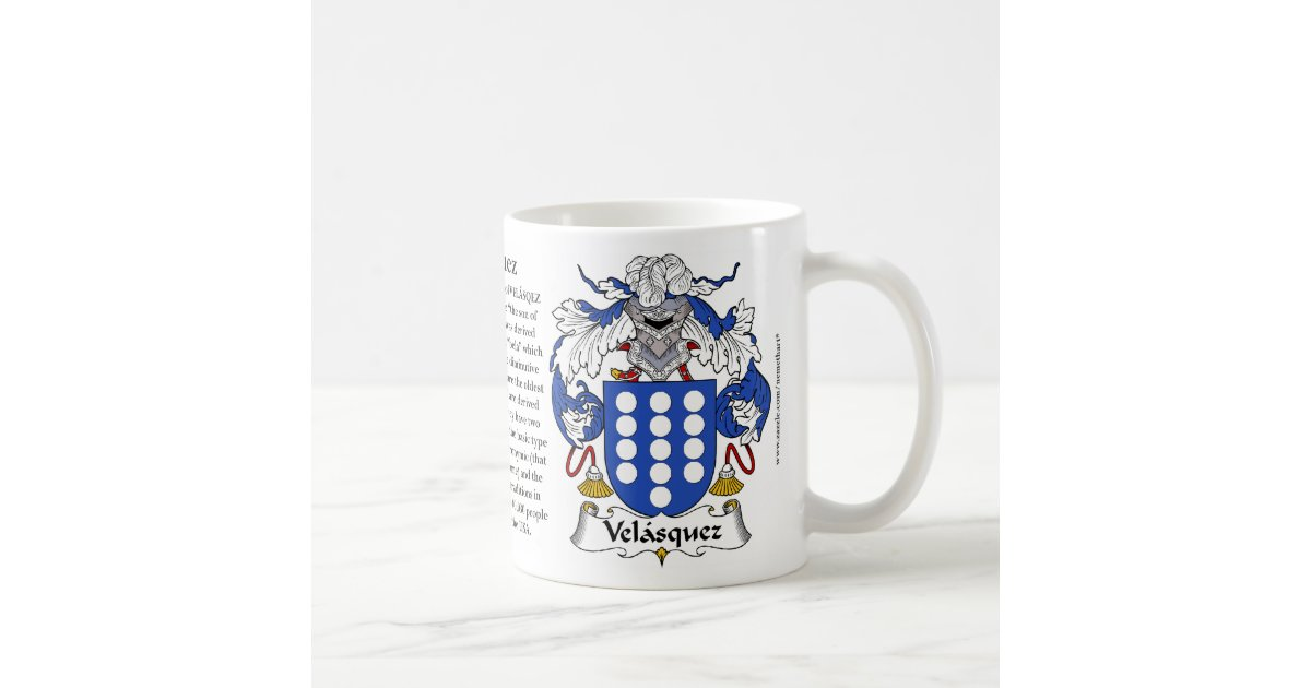 Velasquez The Origin The Meaning And The Crest M Coffee Mug