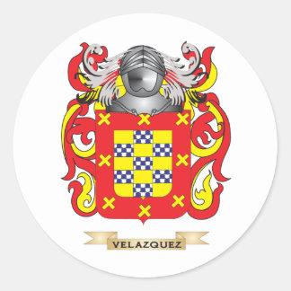 Velazquez Family Crest (Coat of Arms) Round Sticker