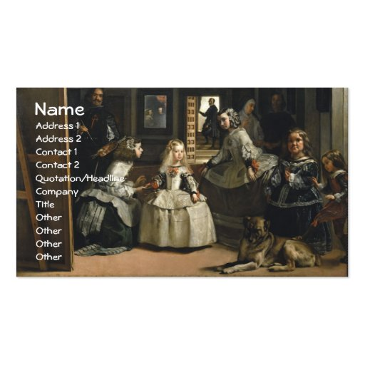 Velázquez Las Meninas Plantilla De Tarjeta De Negocio