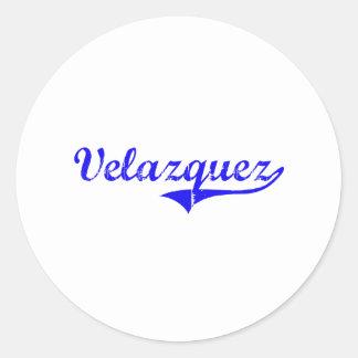 Velazquez Surname Classic Style Stickers