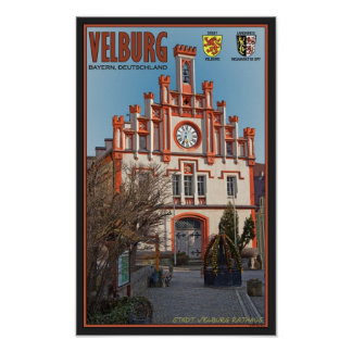 Velburg - Rathaus Póster