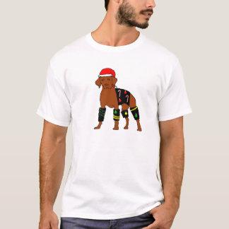 Velcro Christmas Vizsla T-Shirt