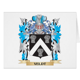 Veldt Coat of Arms - Family Crest Large Greeting Card