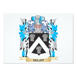 Veldt Coat of Arms - Family Crest 5x7 Paper Invitation Card