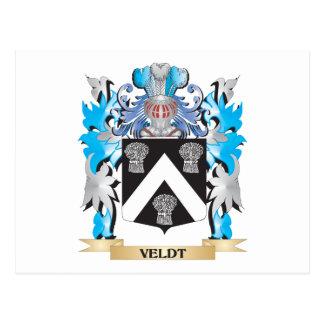 Veldt Coat of Arms - Family Crest Postcard