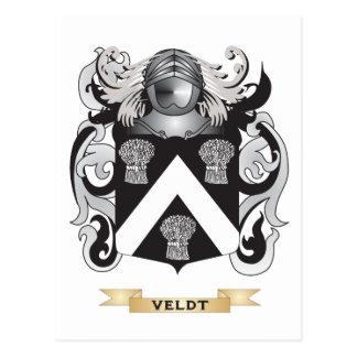 Veldt Family Crest (Coat of Arms) Postcard
