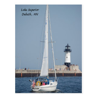 ¡Velero Ahoy! , el lago Superior Duluth, manganeso Postal