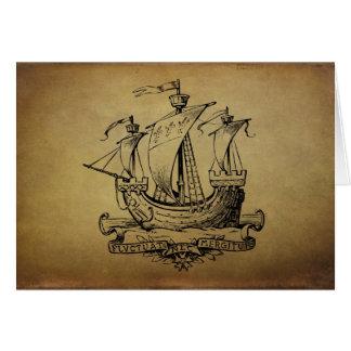 Velero antiguo tarjeta de felicitación