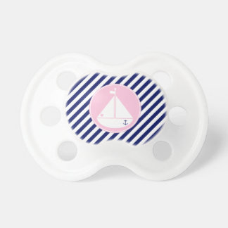 Velero azul y rosado chupetes de bebe