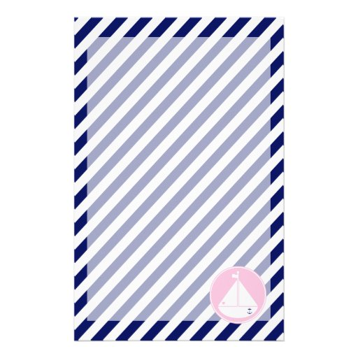 Velero azul y rosado  papeleria