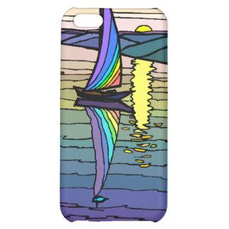 Velero cielo colorido y monograma iphone4 del mar