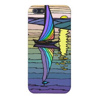 Velero cielo colorido y monograma iphone4 del mar iPhone 5 cobertura