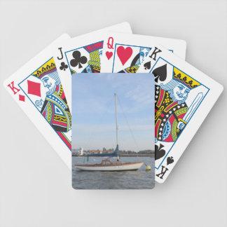 Velero clásico del fin de semana baraja de cartas