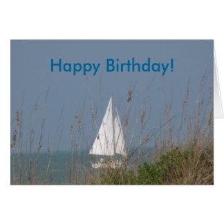 Velero - cumpleaños del mar tarjeta de felicitación