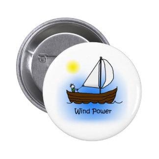 Velero de la energía eólica - botón