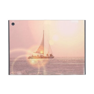 Velero de la puesta del sol iPad mini protectores