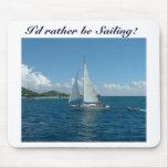 ¡Velero del Caribe, estaría navegando bastante! Alfombrilla De Ratón