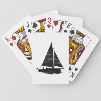 Velero del estilo de la prensa de copiar barajas de cartas