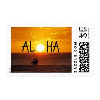Velero del océano de la puesta del sol de Hawaii Envio