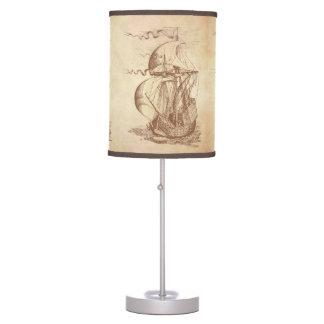 Velero del vintage lámpara de mesilla de noche