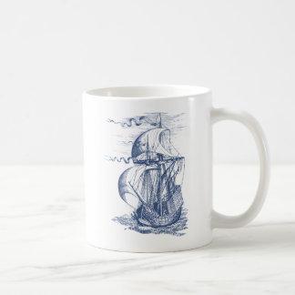Velero del vintage taza