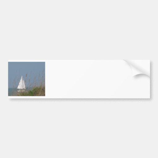 Velero en el mar pegatina de parachoque