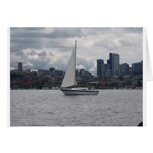Velero en Seattle Tarjetón
