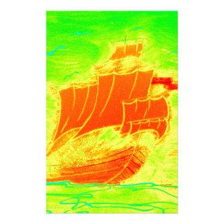 velero fluorescente papelería de diseño