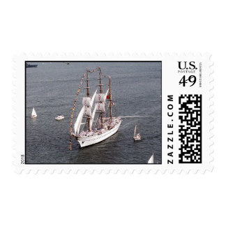 Velero grande timbre postal