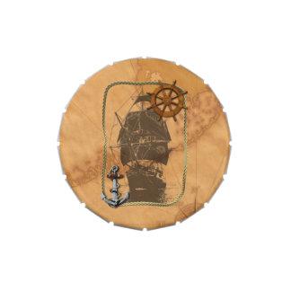Velero histórico jarrones de caramelos
